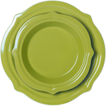 Chantal Lime Green Talavera 2 Piece Pie Dish Set