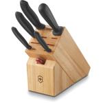 Victorinox Swiss Classic 7 Piece Knife Block Set with Swiss Army Waiter's Pocket Knife