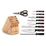 Wusthof Gourmet High Carbon Stainless Steel 10 Piece Knife Block Set