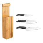Kyocera 3 Slot Bamboo Knife Block Set