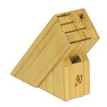 Shun Bamboo 6 Slot Slimline Knife Block with Logo