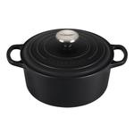 Le Creuset Signature Licorice Enameled Cast Iron 3.5 Quart Round Dutch Oven