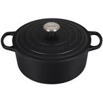 Le Creuset Signature Licorice Enameled Cast Iron 5.5 Quart Round Dutch Oven