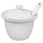 Le Creuset White Stoneware 6.75 Ounce Condiment Pot