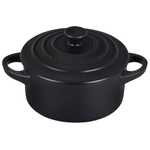 Le Creuset Licorice Enameled Stoneware 8 Ounce Mini Round Cocotte