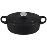Le Creuset Signature Licorice Enameled Cast Iron 1 Quart Oval Dutch Oven