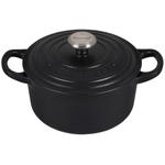 Le Creuset Signature Licorice Enameled Cast Iron 1 Quart Round Dutch Oven