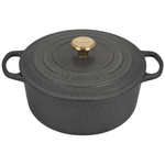 Le Creuset Signature Stone Enameled Cast Iron 7.25 Quart Round Dutch Oven