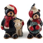 Christmas Bear Holiday Salt & Pepper Shaker Set