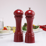 Chef Specialties Windsor Candy Apple Red Hardwood 8 Inch Salt & Pepper Mill Set