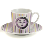 Purple Moon Demitasse Espresso Cup & Saucer Set, 12 Piece