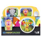 French Bull Jungle 4 Piece Kids Tray Set