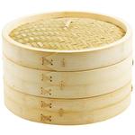 Helen Chen's Asian Kitchen 2 Tiered Bamboo 12 Inch Steamer Set