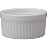 HIC White Porcelain 6 Ounce Souffle Dish