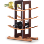 Anchor Hocking Bamboo Wine Rack With Espresso Accenting