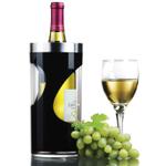 Prodyne Swirl Black Acrylic Iceless Wine Cooler