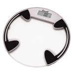 Escali Round Digital Bathroom Scale with Tempered Glass Platform 400 Lb / 180 Kg