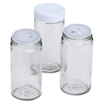 J.K. Adams Glass Spice Bottles, Set of 16