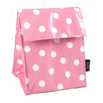 Two Lumps of Sugar Pink and White Polka Dot Lunch Sack
