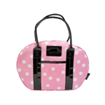 Two Lumps of Sugar Pink and White Polka Dot Bowler Lunch Bag