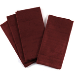 Dark Red Silk And Polyester Cloth Dinner Napkin