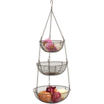 RSVP Bronze Woven Wire Hanging Storage Baskets
