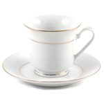 Lynns Victoria White Porcelain Espresso Cup and Saucer Set 12 Piece