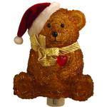 Santa Hat Teddy Bear Christmas Night Light