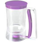 Chicago Metallic Acrylic and Purple Silicone Cupcake Batter Dispenser