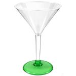 Green Acrylic Martini Glass