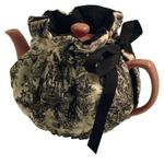 Black Toile Teapot Cozy Wrap Around