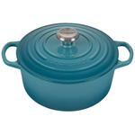 Le Creuset Signature Caribbean Enameled Cast Iron 4.5 Quart Round Dutch Oven