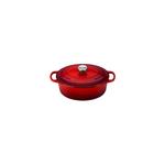 Le Creuset Signature Cerise Enameled Cast Iron 2.75 Quart Oval Dutch Oven