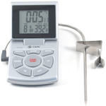 CDN Silver Combo Probe Digital Thermometer and Timer