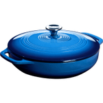 Lodge 3.6 Quart Enameled Cast Iron Covered Casserole in Caribbean Blue