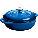 Lodge 3 Quart Enameled Cast Iron Dutch Oven in Caribbean Blue