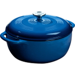 Lodge Caribbean Blue Color Enamel on Cast Iron 6 Quart Dutch Oven