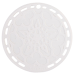 Le Creuset White Silicone French Trivet