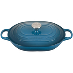 Le Creuset Signature Deep Teal Enameled Cast Iron 3.75 Quart Oval Casserole Dish