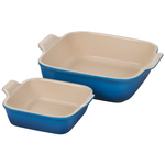 Le Creuset Heritage Marseille Stoneware Square Baker, Set of 2
