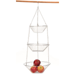 RSVP 3-Tier Hanging Chrome Wire Basket