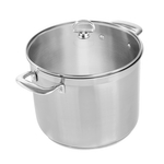 Chantal Induction 21 Steel 12 Quart Stockpot with Glass Lid