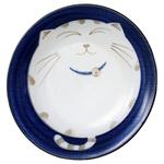 Blue Sleepy Cat Porcelain 8 Inch Dinner Plate