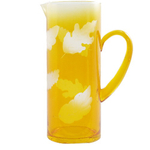 Natures Palette Etched Amber Martini Pitcher