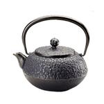 Joyce Chen Black Cast Iron Cherry Blossom Tetsubin Teapot, 19 Ounce
