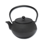 Joyce Chen Black Cast Iron Hob Nail Tall Tetsubin Teapot, 24 Ounce