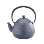 Joyce Chen Blue Cast Iron Tsunami Tetsubin Teapot, 18 Ounce