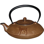 Joyce Chen Brown Cast Iron Year of the Dog Tetsubin, 24 Ounce