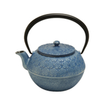 Joyce Chen Blue Cast Iron Cherry Blossom Tetsubin, 35 Ounce