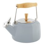 Chantal Glossy Fog Grey Enamel-on-Steel Sven 1.8 Quart Teakettle